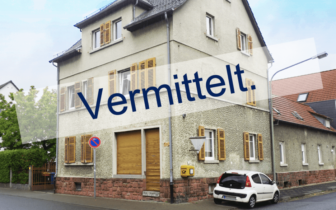 Einfamilienhaus mit Einliegerwohnung und Gewerbe in Hanau/Großauheim